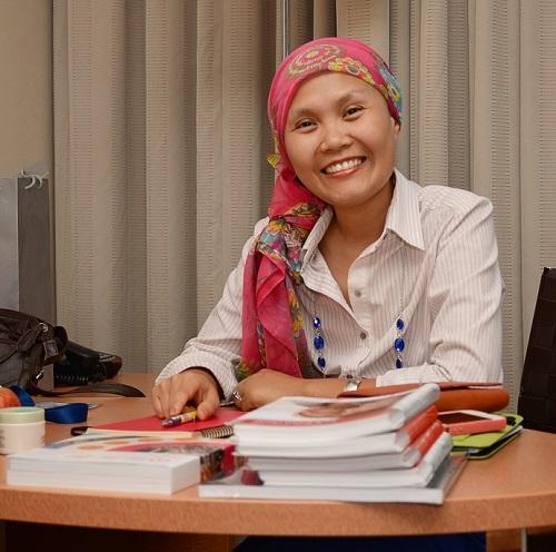 Ung thư vú không thể làm chị gục ngã