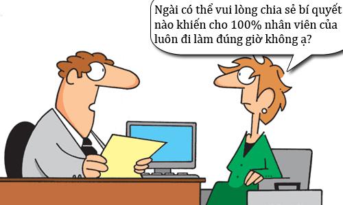 Bí quyết quản lý nhân viên đi làm đúng giờ