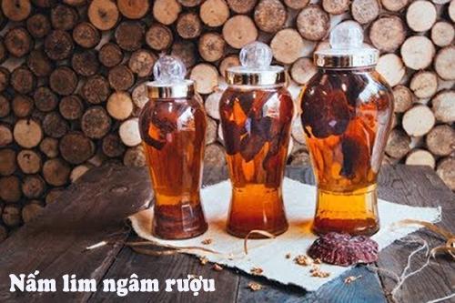 Nấm lim ngâm rượu có nhiều công dụng tốt với sức khỏe