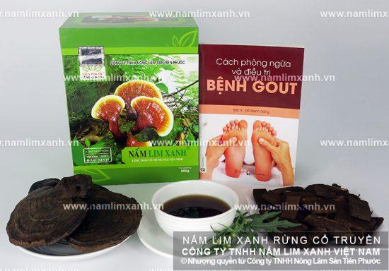 Nấm lim xanh tự nhiên điều trị bệnh gout