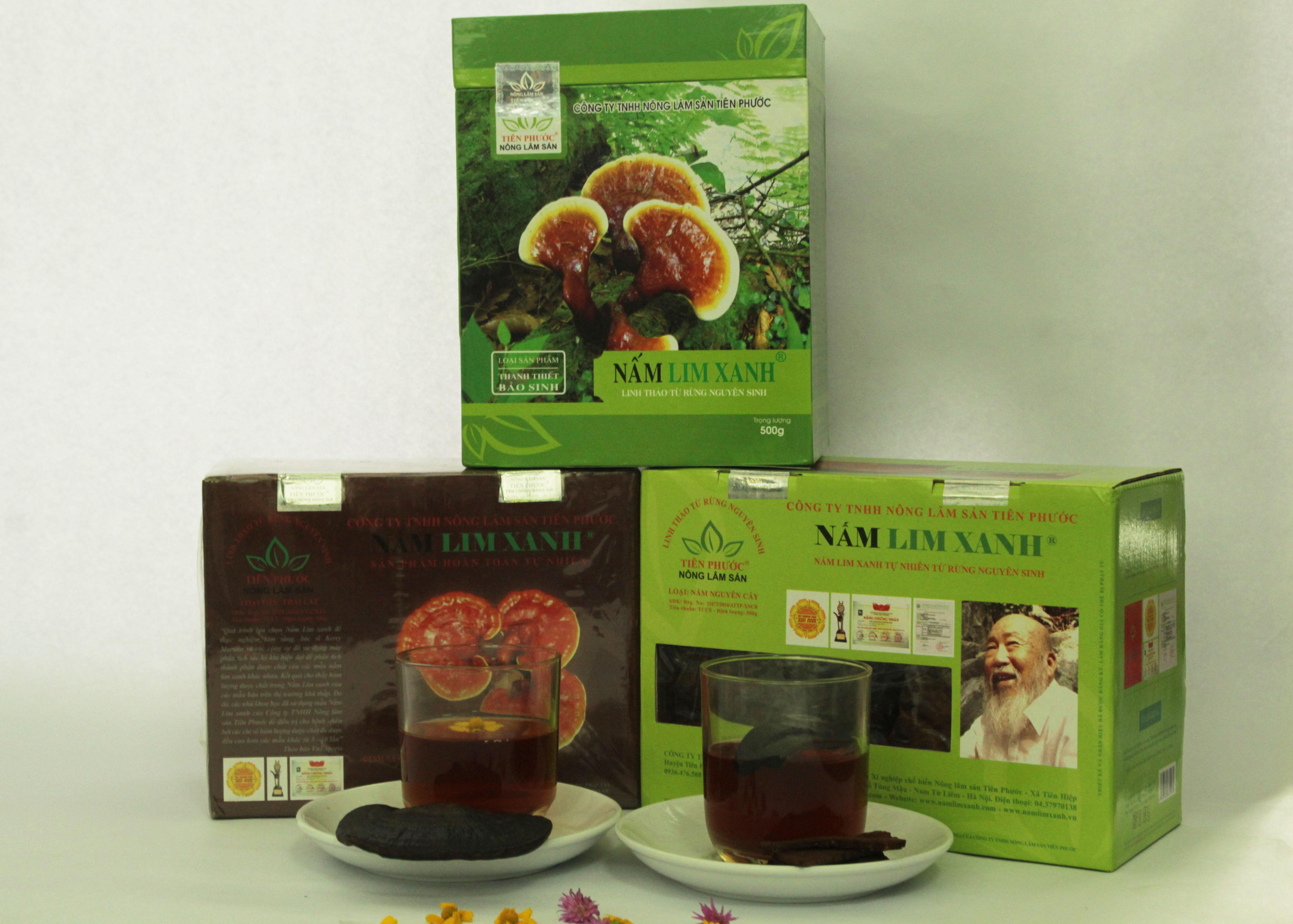 Sản phẩm nấm lim xanh được chia thành 3 loại