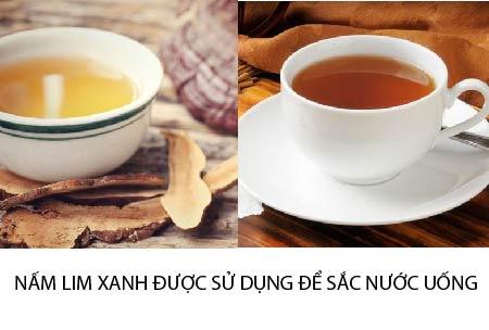 Hãm trà nấm lim xanh là cách làm phổ biến được nhiều người áp dụng