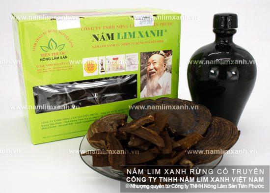 Người dùng có thể sử dụng sản phẩm của công ty nấm lim xanh Tiên Phước bằng cách sắc lấy nước uống.